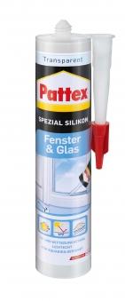 Pattex Silikon / Fenster & Glas Spezial Silikon transparent 300ml Bild 1