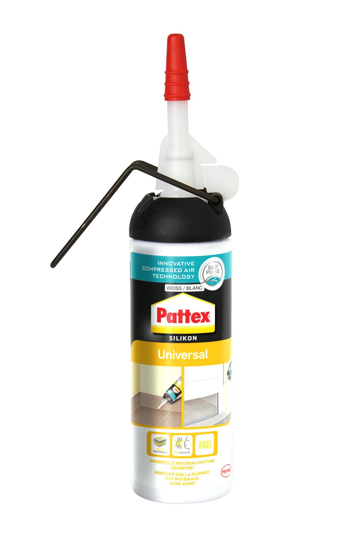 Pattex Universal Silikon weiß 100ml Bild 1