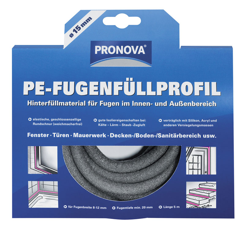 Pronova PE-Fugenfüllprofil Ø 15 mm Bild 1