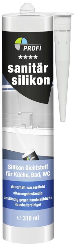 Sanitär Silicon PROFI weiss 310 ml Bild 1