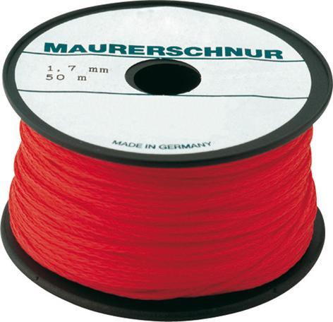 Maurerschnur PE 1,7mm 50m rot Overmann Bild 1
