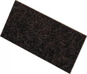 Ersatzbelag Zellgummi 14x28x1cm schwarz Kronen Bild 1