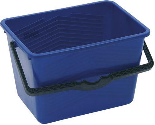 Farbeimer rechteckig 14l blau m. Maßeinteilung Bild 1