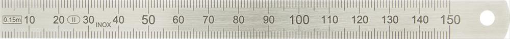Biegsamer Stahlmaßstab 150x13x0,5mm HP Bild 1
