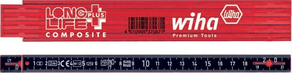 Gliedermaßstab 2m rot/schwarz Wiha Bild 1