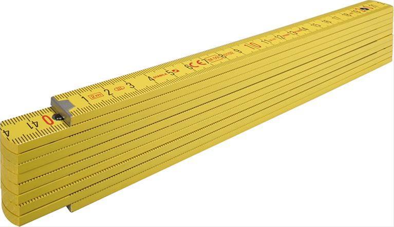 Gliedermassstab Holz 2m 16mm Nr.407 gelb Stabila Bild 1
