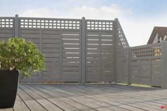 Sichtschutz / Zaun Elsass Zaunelement Fichte grau lasiert 180 x 95 cm Bild 1