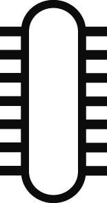 Univ.-Schärffeile m.Heft 200mm H2 Pferd Bild 3