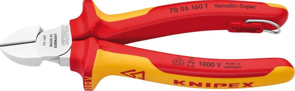 Seitenschneider VDE TT 160mm m.M.K.Griff Knipex Bild 1