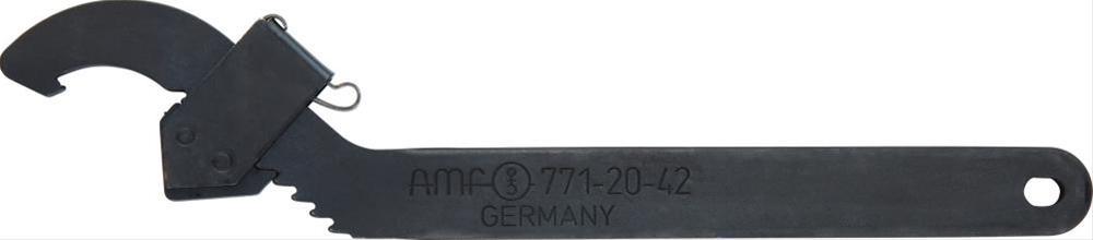 Hakenschlüssel verstellb.95-165mm m.Nase AMF Bild 1