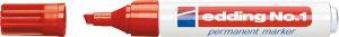 Permanentmarker Nr.1 rot Edding Bild 1