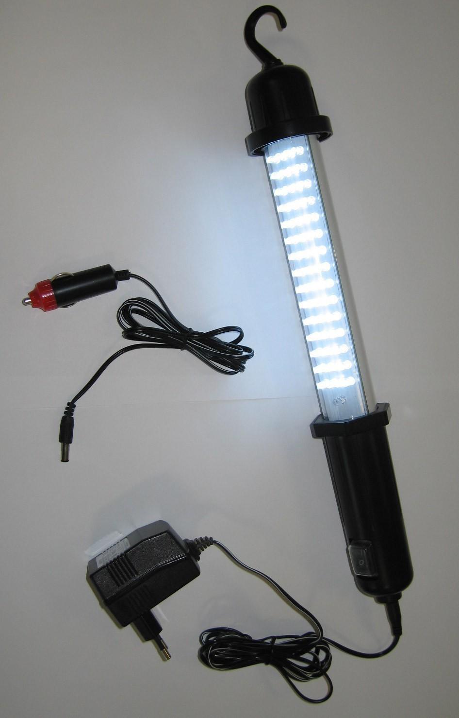 LED Akku Handleuchte / Werkstattleuchte / Handlampe 60 LED´s Bild 2