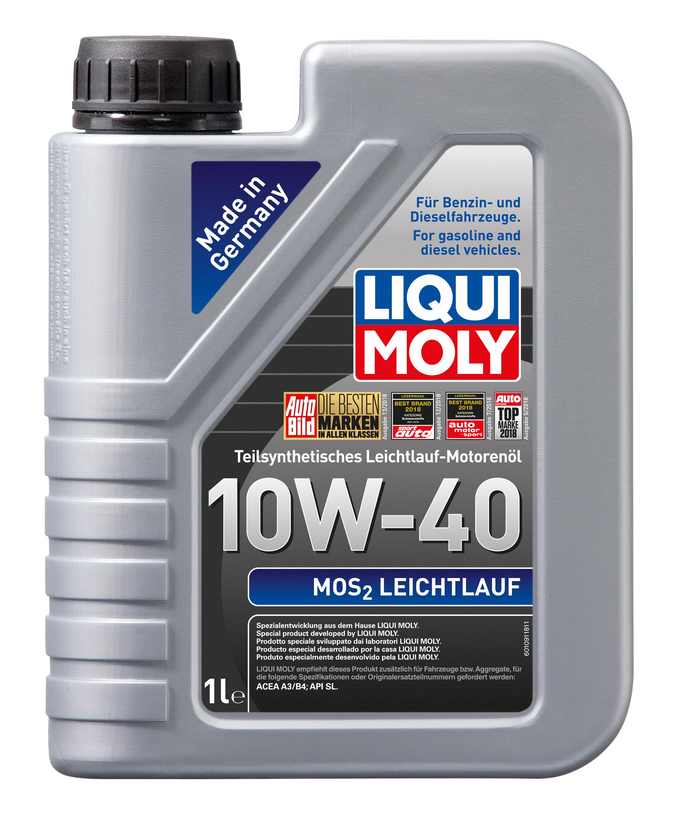 Liqui Moly Leichtlaufmotoröl MoS2 Leichtlauf 10W-40  1 Liter Bild 1