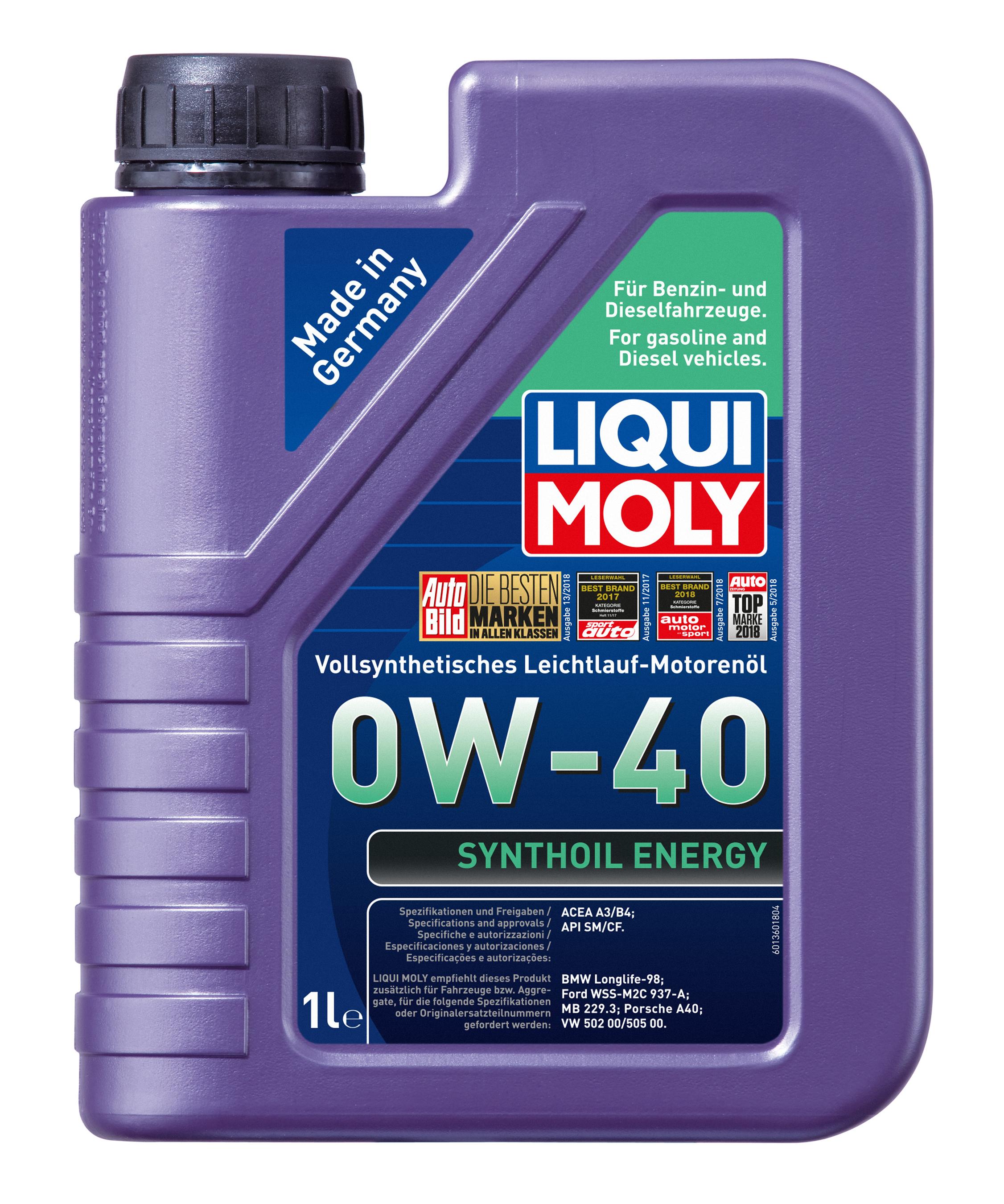 Liqui Moly Leichtlaufmotoröl Synthoil Energy 0W-40  1 Liter Bild 1