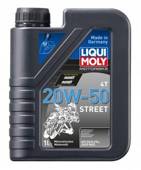 Liqui Moly Motoröl Motorbike 4T 20W-50 Street  1 Liter Bild 1