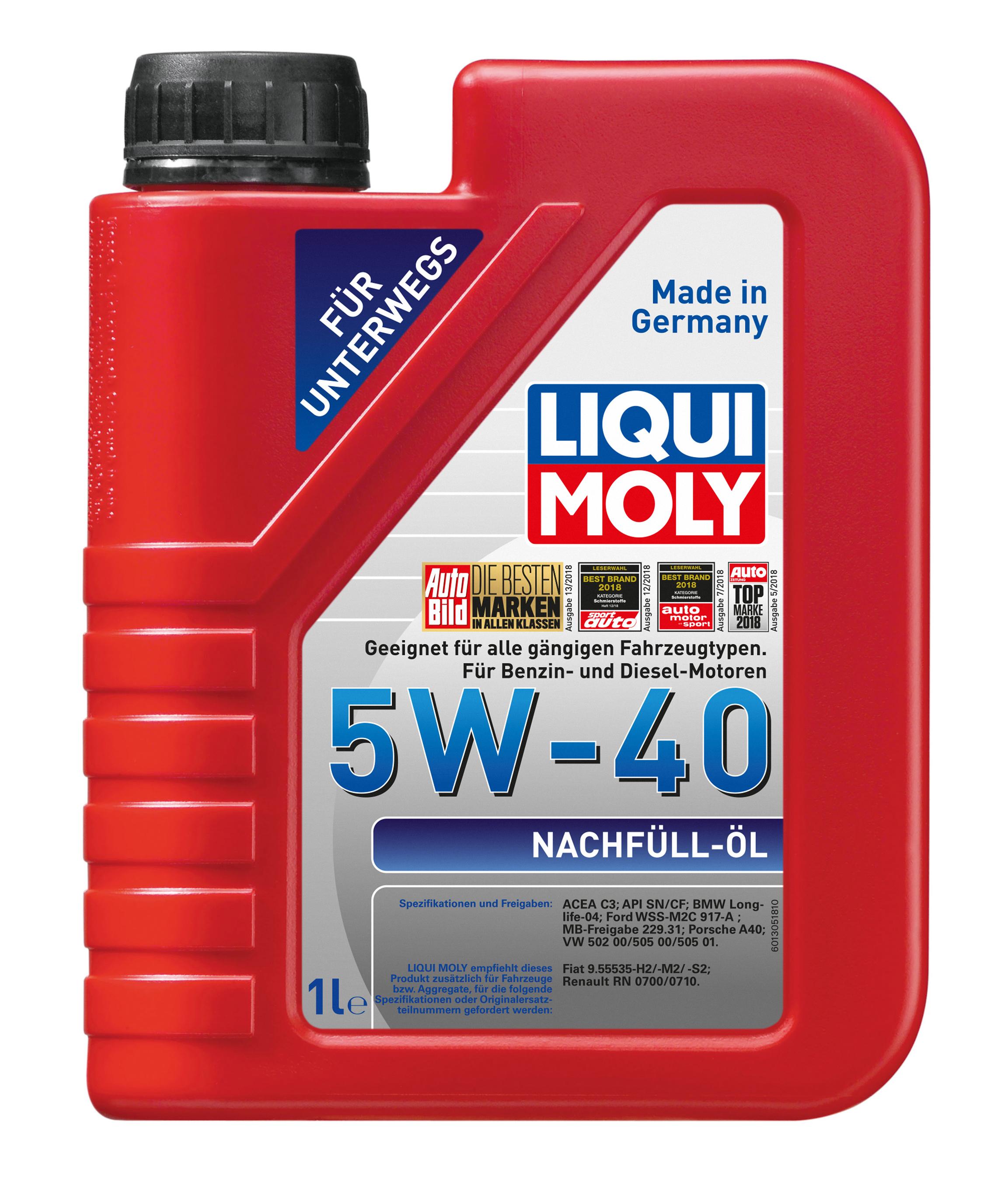 Liqui Moly Nachfüll-Öl 5W-40  1 liter Bild 1