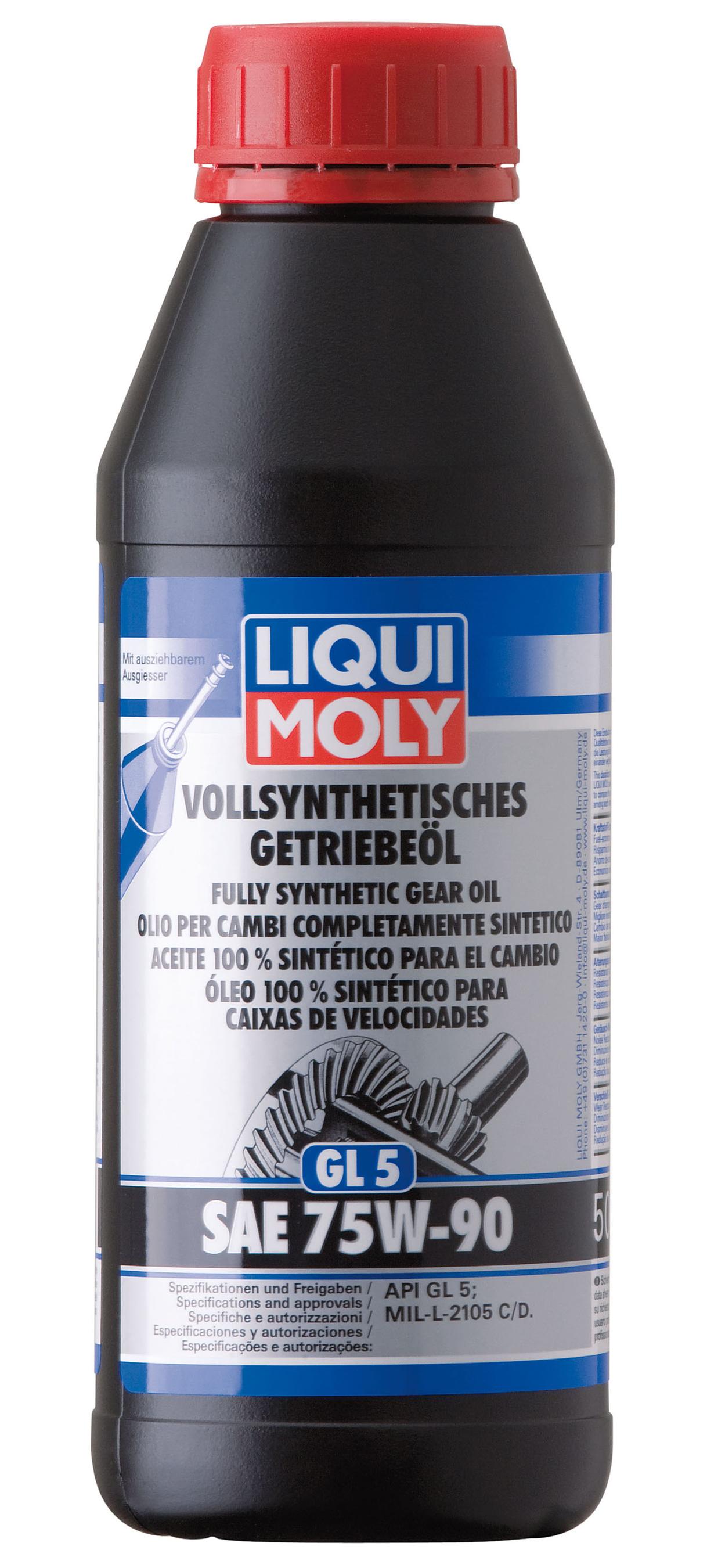 Liqui Moly Vollsynthetisches Getriebeöl (GL5) SAE 75W-90 500ml Bild 1