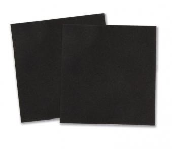 GAH Alberts Moosgummischeibe für Sportgeräte schwarz 5x5cm 2Stck Bild 1