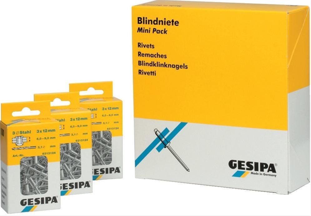 Mini-Pack Stahl/Stahl 4x 6mm Gesipa Bild 1